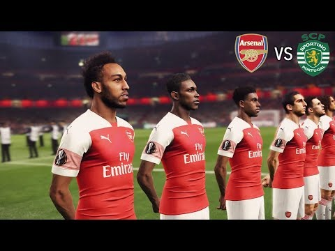 Arsenal vs Sporting Lisbon | Europa League 08/11/2018 Gameplay Mp3