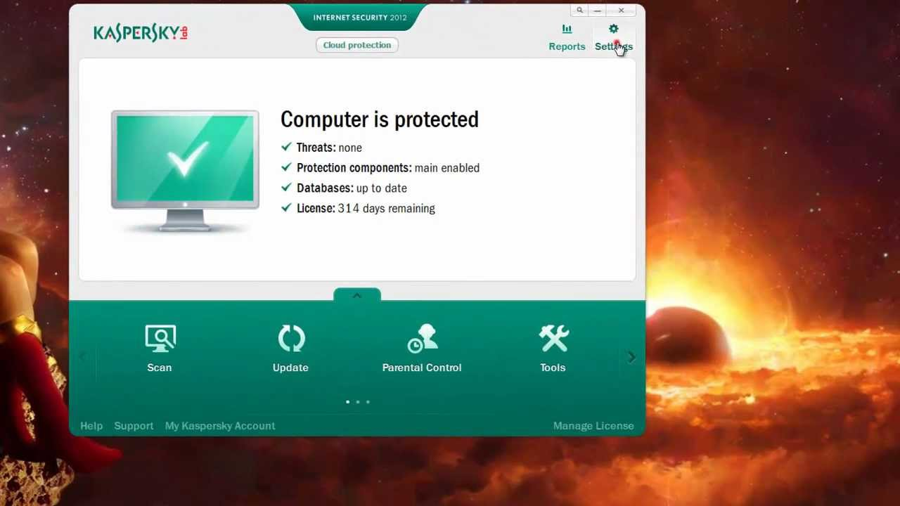 How to update Kaspersky 11