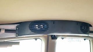 Chevy Express and GMC Savana van rear ceiling speakers replacement – 2002 GMC Savana Project Van