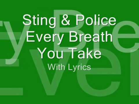 Sting and Police- Every breath you take (with Lyrics)