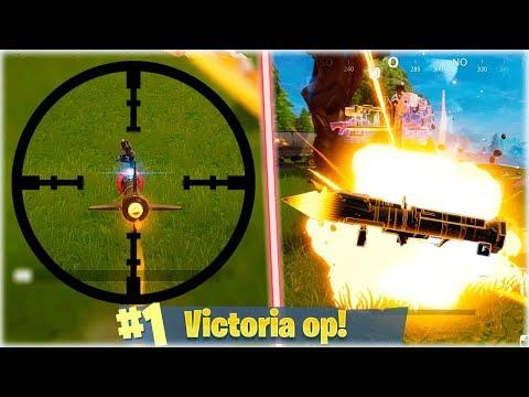 VICTORIA CON EL *NUEVO* MISIL TELEDIRIGIDO A 2 DE VIDA en Fortnite: Battle Royale - [WithZack]