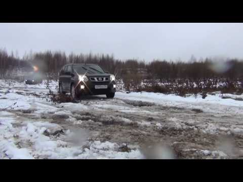 Nissan X Trail 2, тест драйв на бездорожье Nissan X Trail, off road test