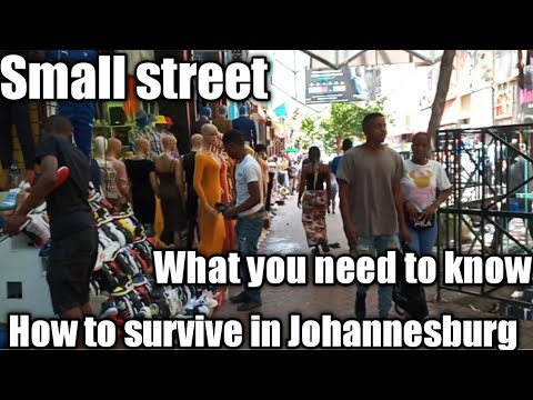 How To Survive in Johannesburg CBD/Small street -  Johannesburg South Africa