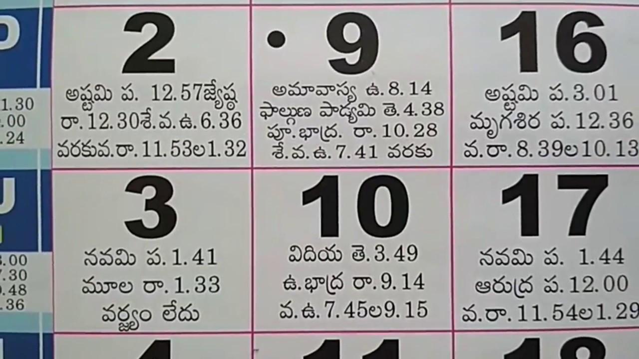 Telugu Calendar for March Month Festivals   Indian Hindu Calendar