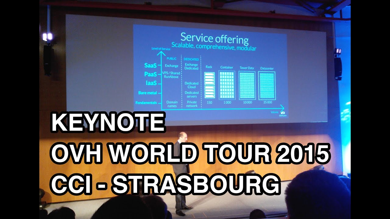 Introduction du Keynote OVH WORLD TOUR 2015 Strasbourg Les