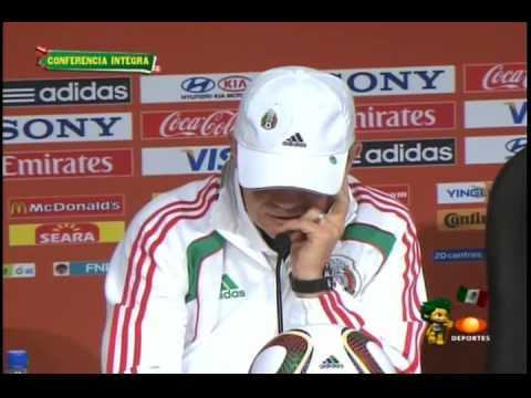 Javier Aguirre Conferencia De Prensa Mexico vs Argentina Sudafrica 2010 (26/06/10)