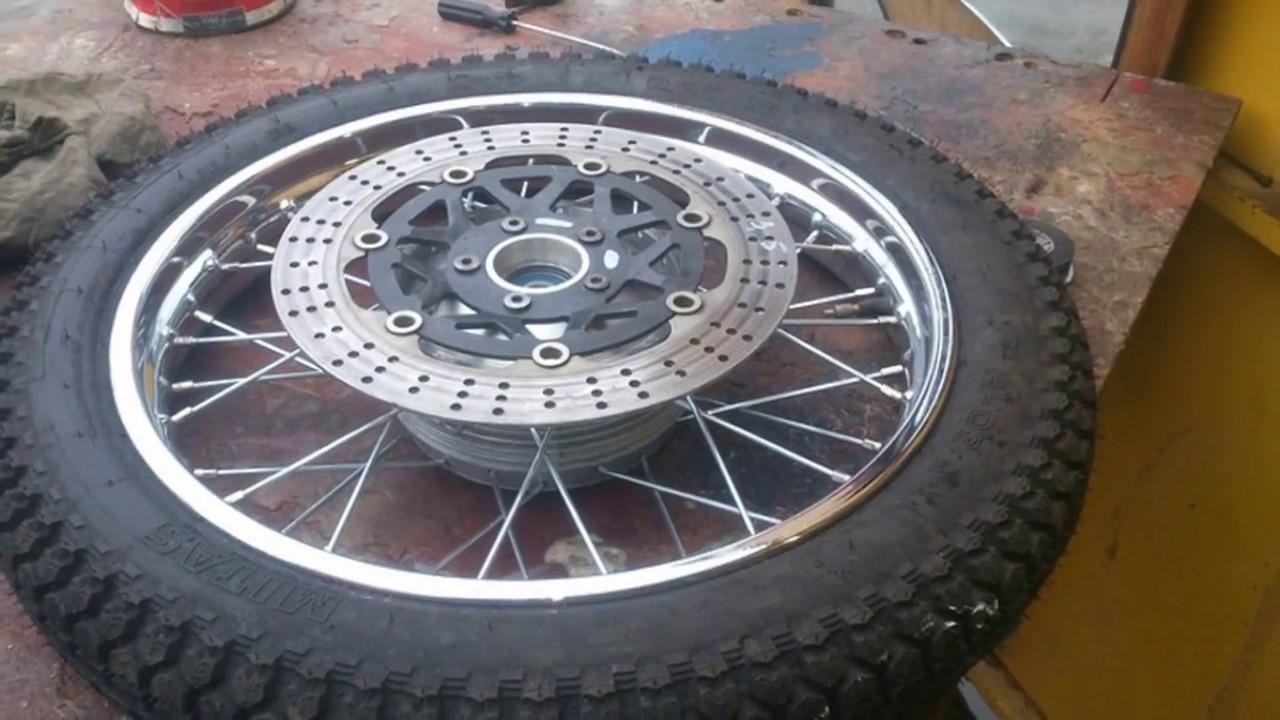 Сборка (переделка) колеса Ява 638/350/Ф-18 под дисковый ...