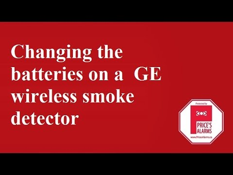 ge interlogix tx 6010 wireless smoke detector changing batteries youtube. Black Bedroom Furniture Sets. Home Design Ideas