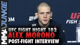 Alex Morono talks 'weird' missing mouthpiece incident | UFC Fight Night 182 post-fight interview
