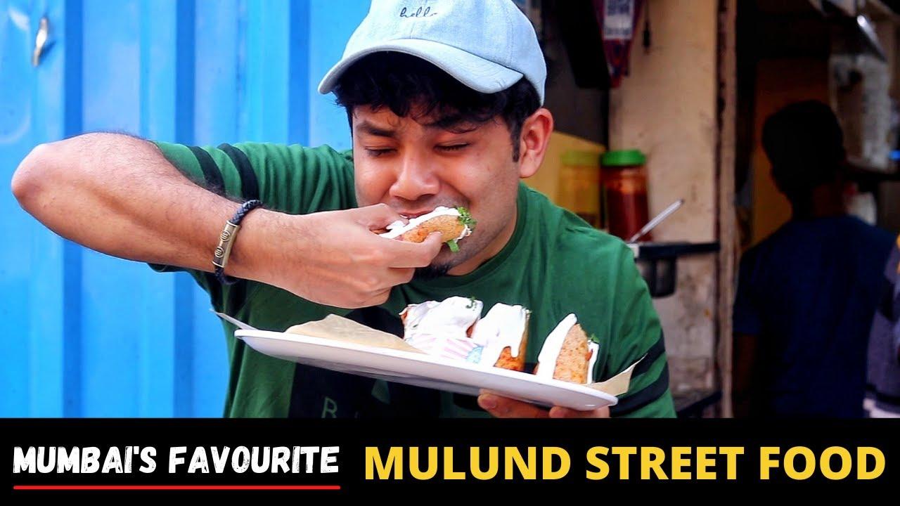 Mulund Street Food   Mumbai Street Food   Pasta Dosa, Veg Bomb Roll (Indian Food Khau Galli)