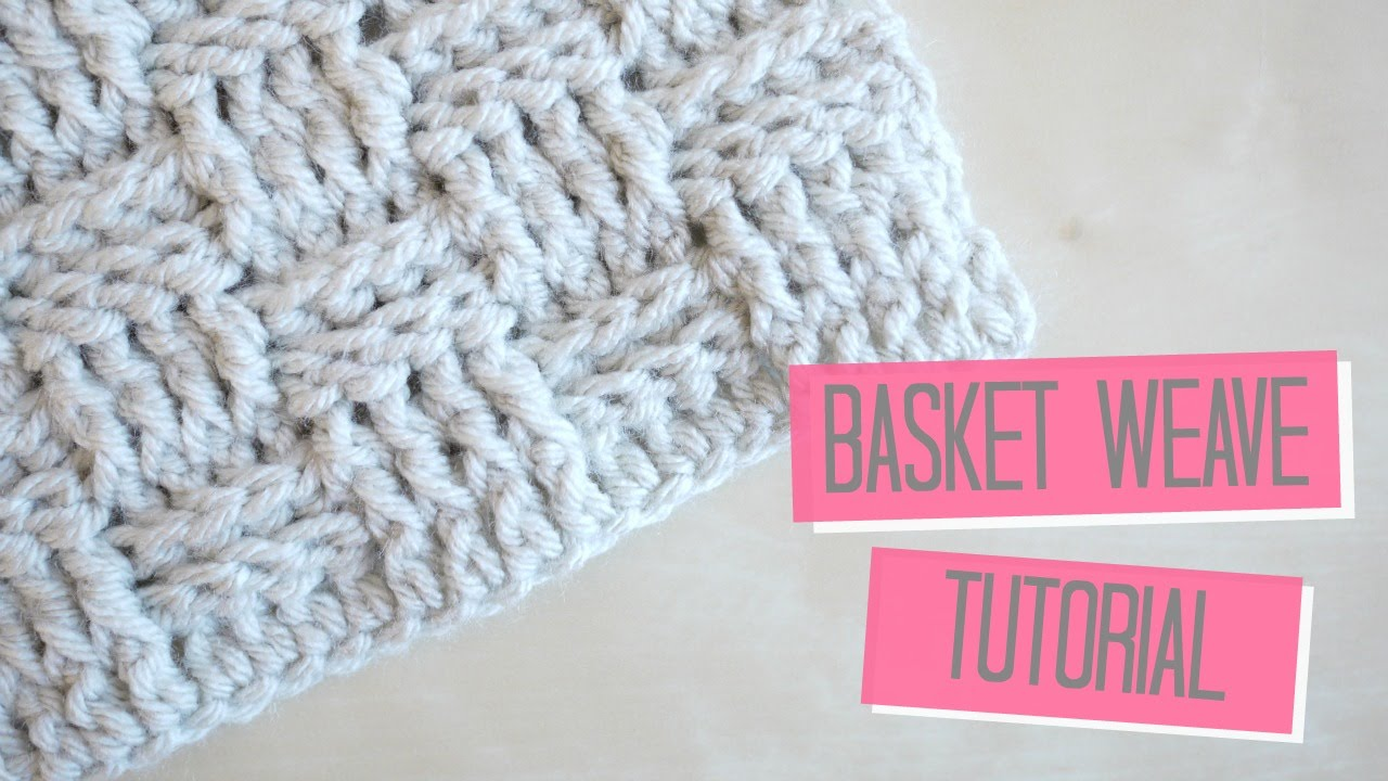 Crochet Basket Weave Tutorial Bella Coco Youtube