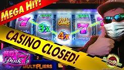 HUGE BONUS !!! HOT PINK 7s IGT Slots - CASINO SHUT DOWN!!