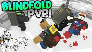 "GangZ MODDED Unturned Gameplay - ""BLINDFOLD PVP STAB-A-THON!!!"" - Unturned PvP Multiplayer"