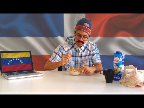 Venezolano come cereal en RD por 10 minutos