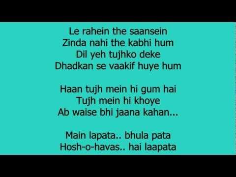 Laapata - Ek Tha Tiger Lyrics HD 720p
