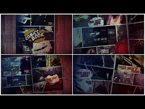 comics book after effects template youtube. Black Bedroom Furniture Sets. Home Design Ideas