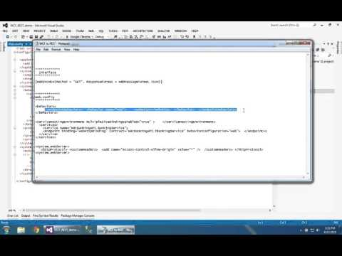 How to Create / Convert  WCF service into REST service C# .NET