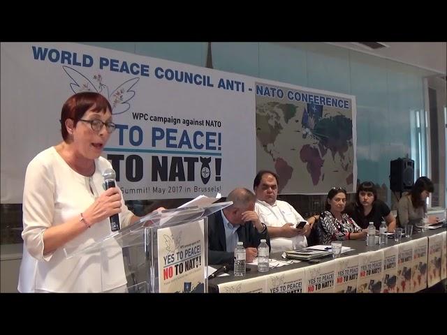 Ομιλία της Μαιρήνης Στεφανίδη στη συγκέντρωση ενάντια στο ΝΑΤΟ στις Βρυξέλες 24/05/2017