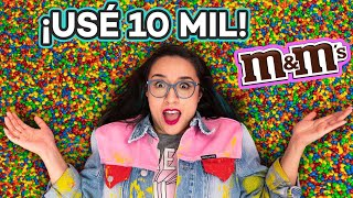 I Made Art Using 10,000 M&M's 😱 ✄  Craftingeek