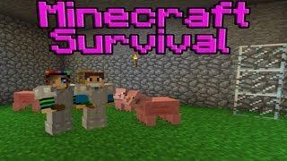 Minecraft Survival - Farma Marchewek i Hodowle Zwierząt #3