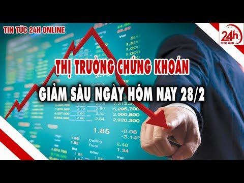 Thị trường chứng khoán trong nước Vnindex giảm sâu | Tin tức Việt nam mới nhất | Tin tức 24h