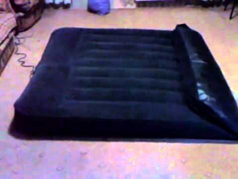 Надувная двуспальная кровать Intex 67738 (с насосом) - YouTube