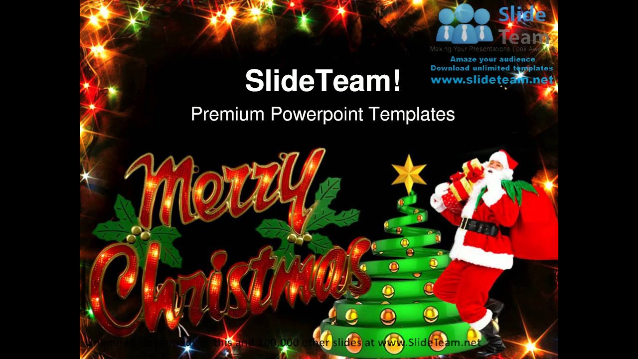 merry christmas festival powerpoint templates themes and, Powerpoint templates