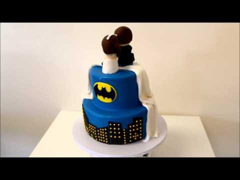 Batman Wedding Cake.Batman Theme Wedding Cake Youtube