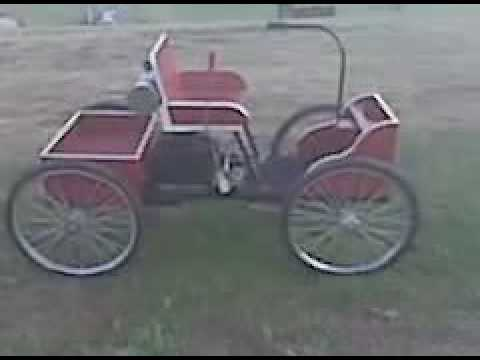 Horseless buggy/Henry ford replica - YouTube