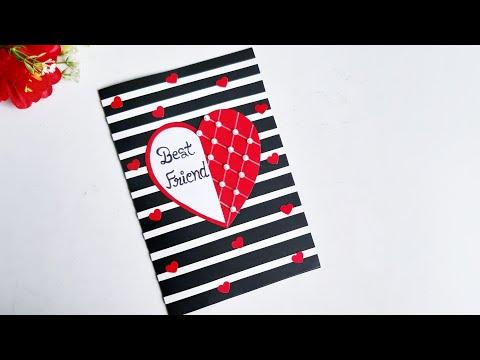 Beautiful Handmade Friendship Day Card idea//DIY Greeting cards for Friendship Day//Gift idea