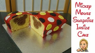 Mickey Mouse Cake - Surprise Inside Cake