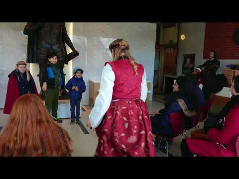 Shakespeare Birthplace Trust actors, with children assisting