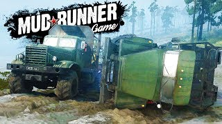 HUGE MUD TRUCK FLIPPING and MULTIPLAYER WINCH SAVES! - Spintires: MudRunner Multiplayer Gameplay