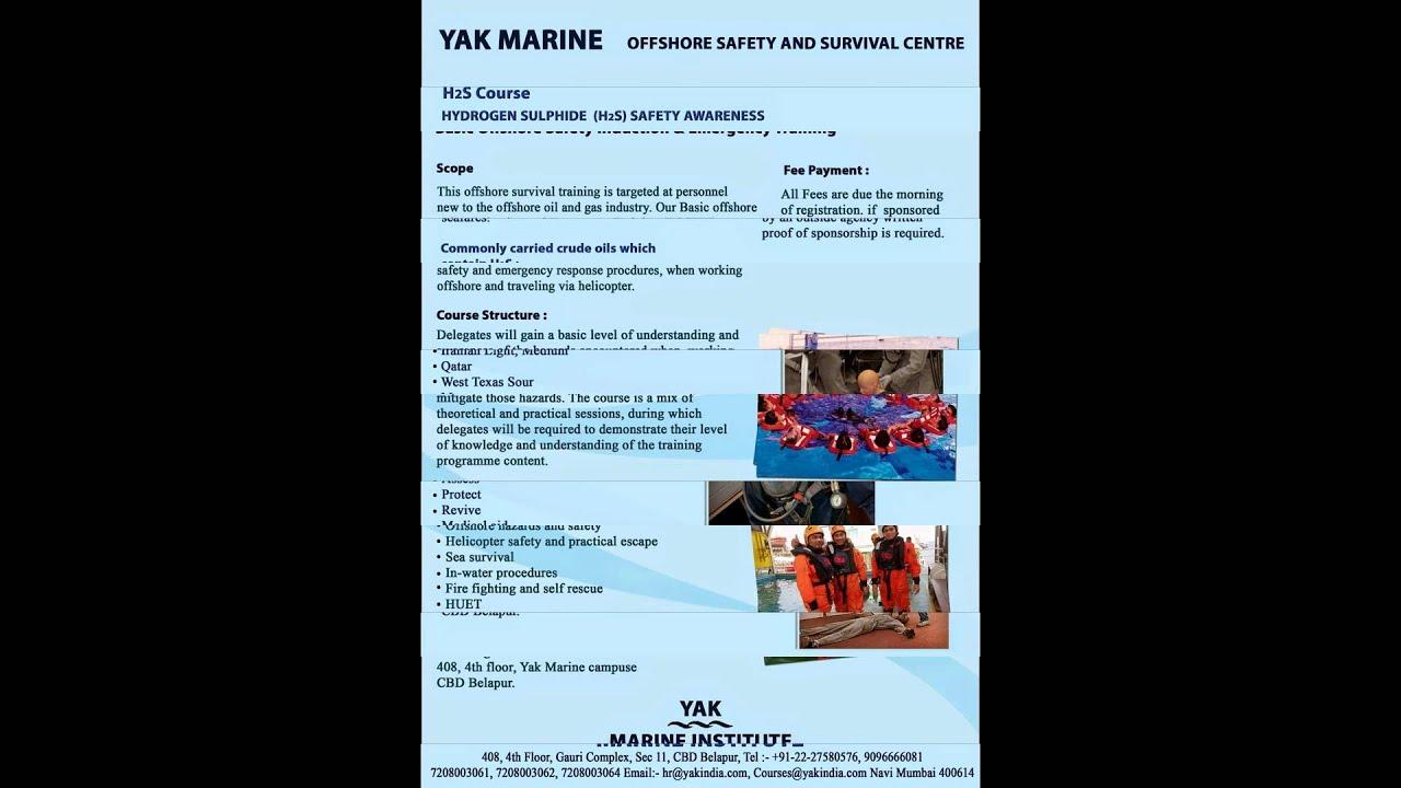 BOSIET / HUET / H2S / HAZMAT / FRB Offshore Course 7208003061