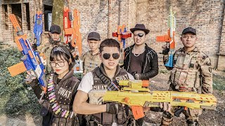 LTT Game Nerf War : Squad Warriors SEAL X Nerf Guns Fight Crime group Braum Crazy Protect Arsenal