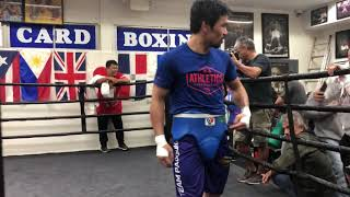 100% conditioned MANNY PACQUIAO shows off agility on New Years Day Camp