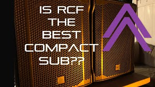 """Cover images RCF SUB 705 AS II, full HD review! An 18"""" alternative for mobile setups? Small box, huge sound."""