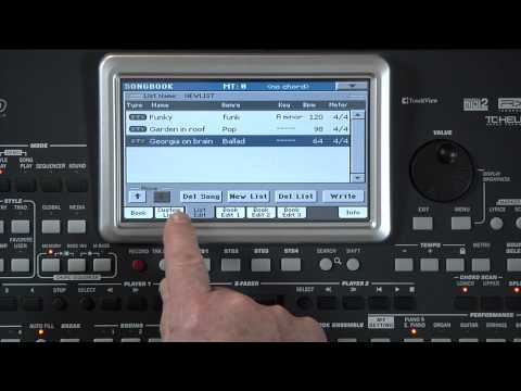 Korg Pa-series Songbook and Songbook Editor Software