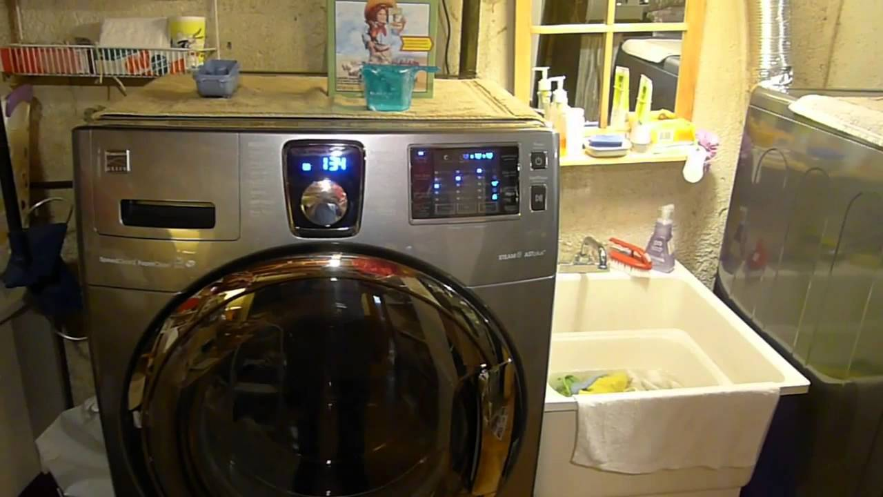 2015 Kenmore Elite Washer And Dryer Cycle Youtube