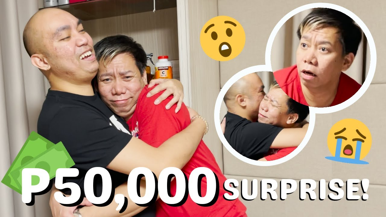 50K PESOS SURPRISE FOR LASSY (GRABE YUNG REACTION NIYA) | CHAD KINIS VLOGS