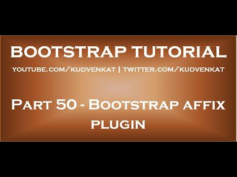 Bootstrap Affix Plugin Youtube