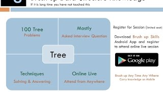 Interview Preparation for  Data Structure and Algorithm Round - Tree Part 1