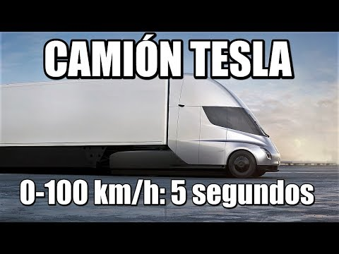 Camión TESLA: ¡Aceleración 0-100 km/h en 5 segundos! (Tesla Semi)