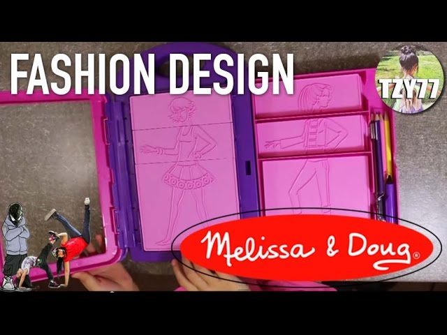 Melissa Doug Fashion Design Activity Kit Achilla S Unboxing And Review Youtube