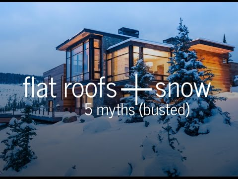 Flat Roofs And Snow 5 Myths Busted Youtube