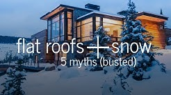 Flat roofs and snow - 5 myths busted