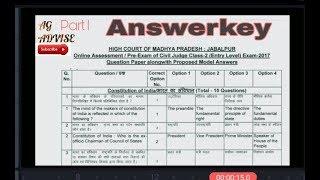 Question paper of MP Civil JUDGE 2017 examination part 1
