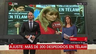 Empleada de Télam se quiebra por los despidos