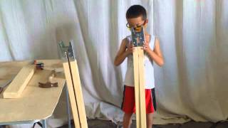 How To Make A Saw Horse.  So Easy A Little Man Can Do It!
