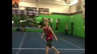mattybraps doing gymnastics